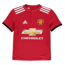 adidas Manchester United Home Shirt 2017 2018 Junior, Red, 140