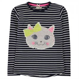Crafted Reversible Sequin T Shirt Infant Girls, Navy Stripe, 86