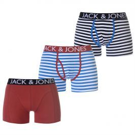 Jack and Jones Walton 3 Pack Trunks, Multi, L