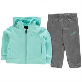 Nike Zip Hood Set BbyG91, Grey/Aqua, 80