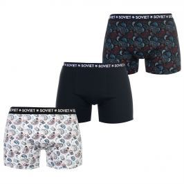 Soviet Paisley Pack of 3 Boxers, Multi, M